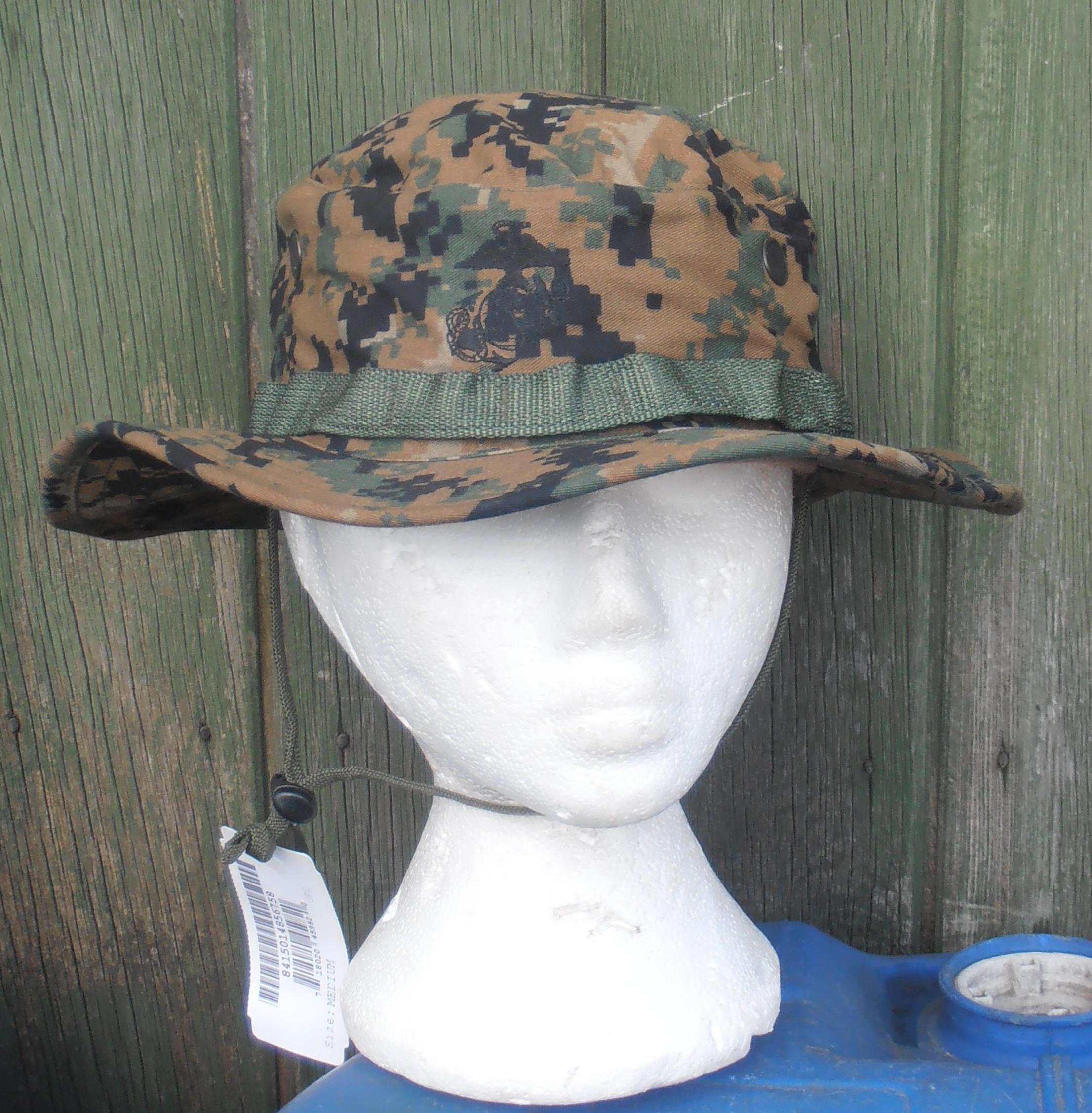 USMC Woodland Marpat pattern boonie hat  d420b0a824c